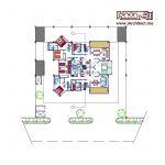 نقشه معماری ساختمان تجاری مسکونی