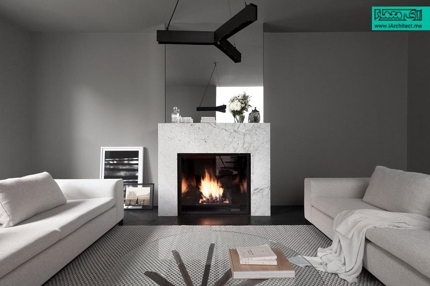 طراحی داخلی سیاه و سفید