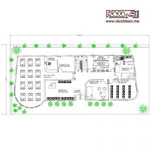 دانلود نقشه اتوکدی مرکز فرهنگی