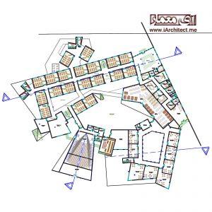 دانلود نقشه اتوکدی مدرسه