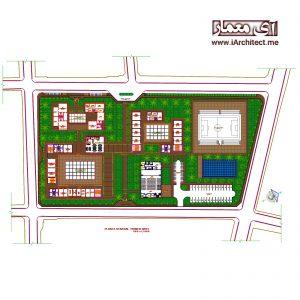 دانلود نقشه اتوکدی مدرسه 2 طبقه