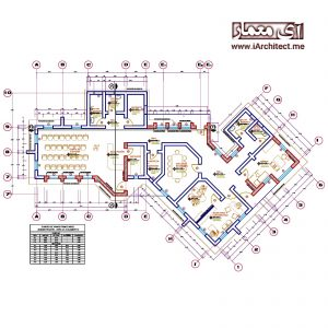 دانلود پلان معماری ساختمان اداری