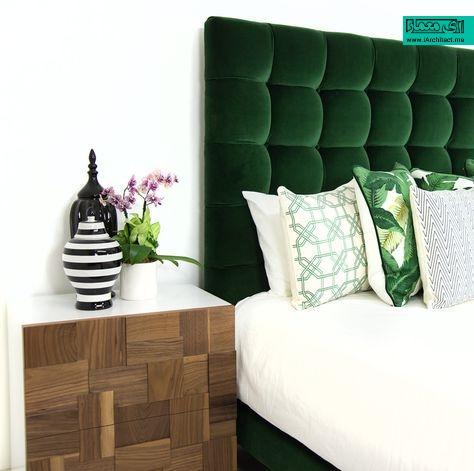 استفاده رنگ سبز در اتاق خواب