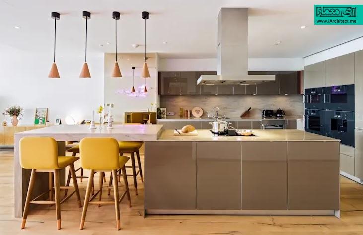 رنگ زرد در طراحی آشپزخانه