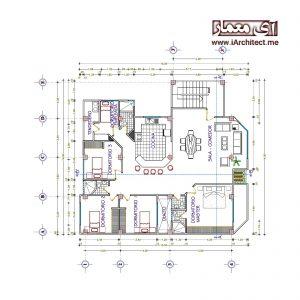 آپارتمان مسکونی 4 طبقه 3واحدی