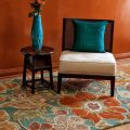 Application of orange in interior decoration