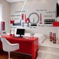 Application of orange in interior decoration-18