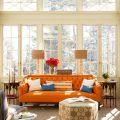 Application of orange in interior decoration-2