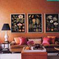 Application of orange in interior decoration-4