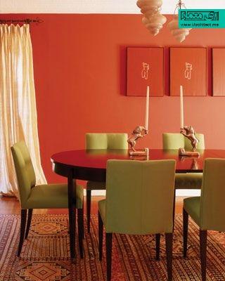کاربرد رنگ نارنجی در دکوراسیون داخلی