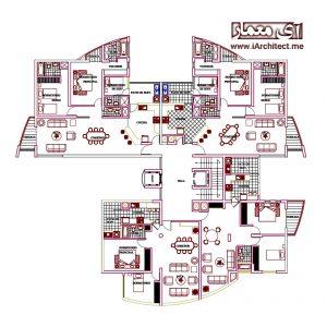 نقشه اتوکدی آموزشگاه