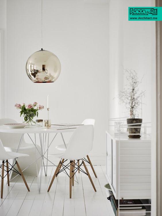 ترکیب چوب طبیعی با رنگ سفید