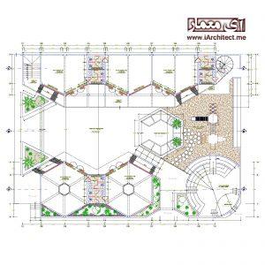 دانلود نقشه معماری مدرسه 2 طبقه