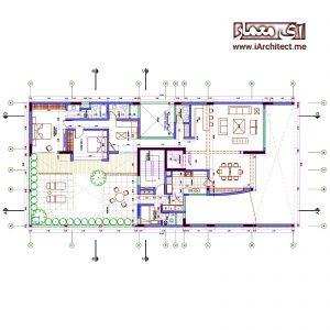 دانلود نقشه آپارتمان 5 طبقه