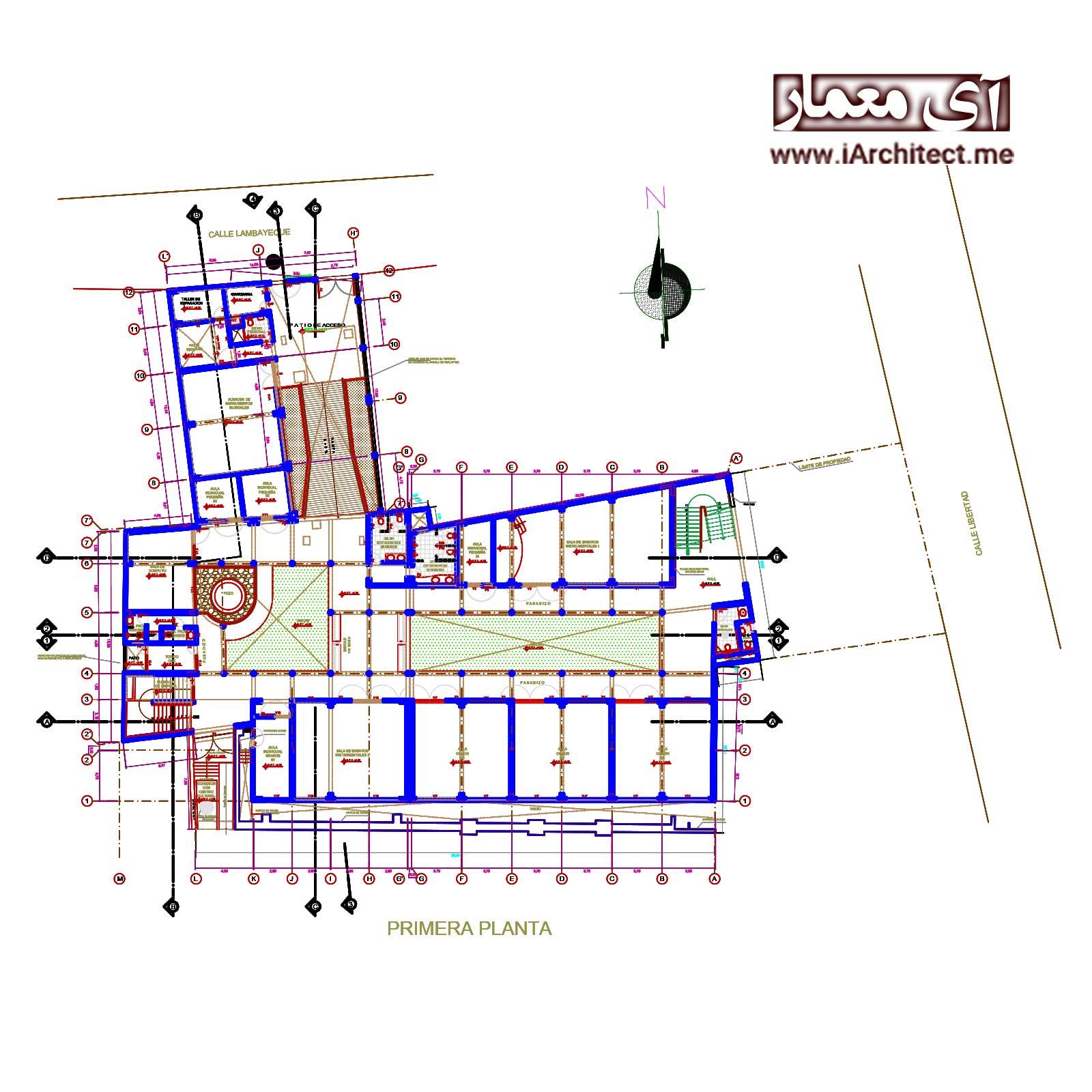 دانلود نقشه اتوکدی آزمایشگاه
