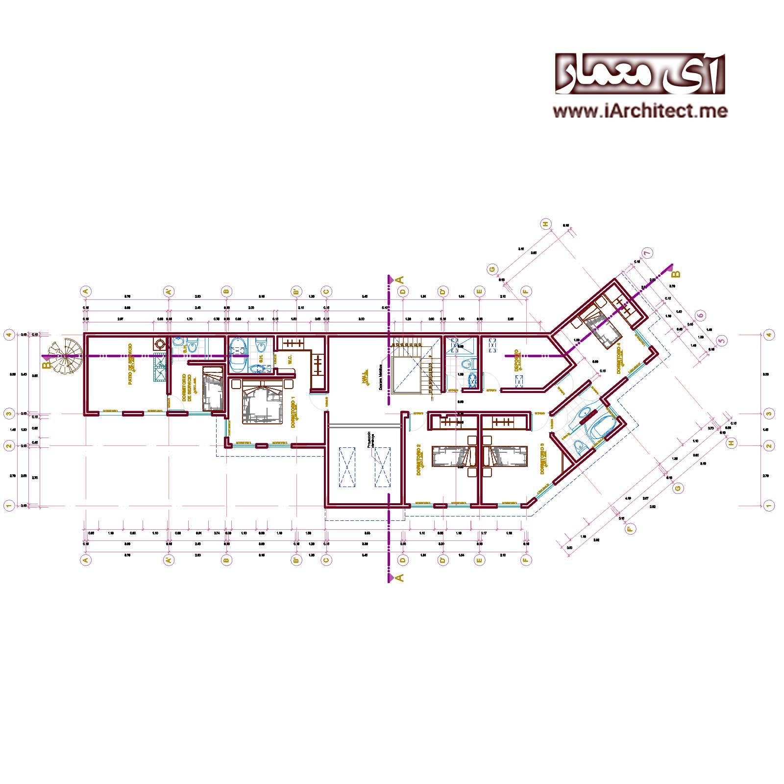 دانلود نقشه ویلای مسکونی