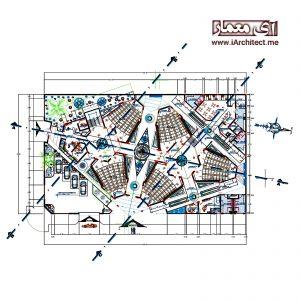 نقشه معماری آموزشگاه