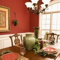 Great Red White Dining Room Paint Colors Wooden Style Table