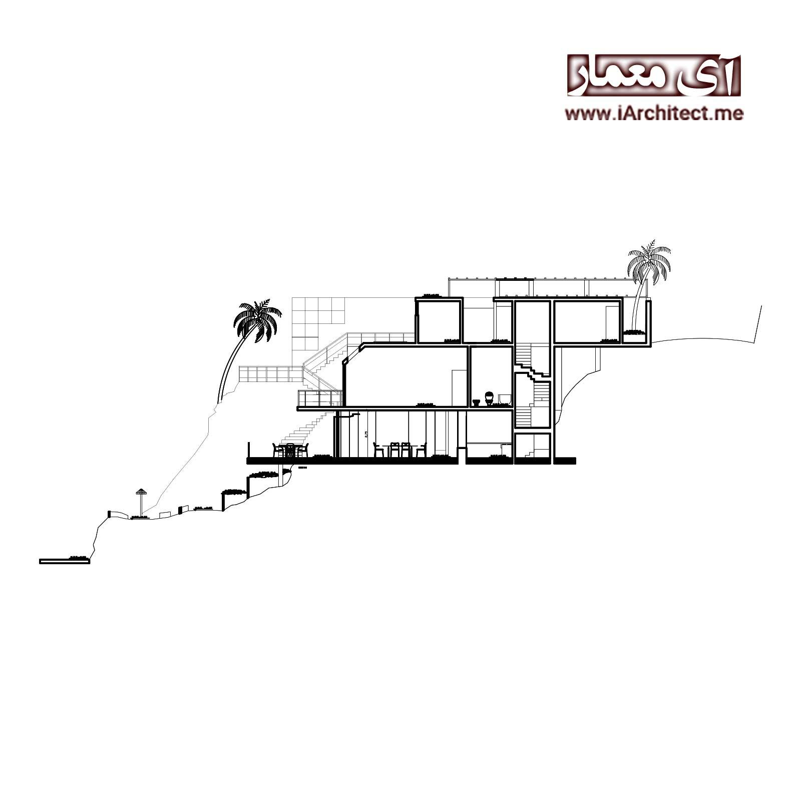 طراحی پلان مسکونی سه طبقه مدرن
