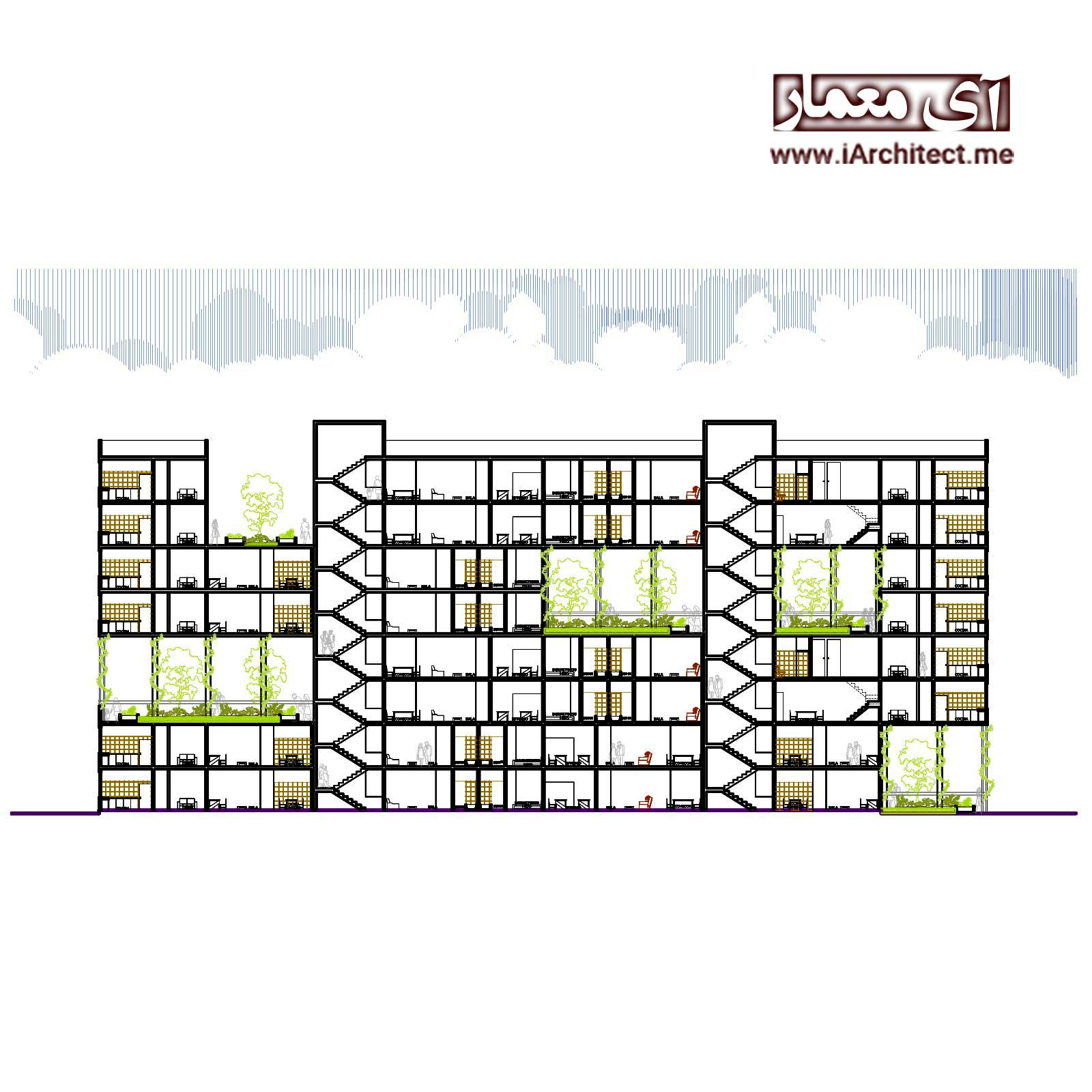 پکیج نقشه های مسکونی و برج