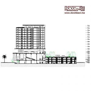 نقشه برج مسکونی-تجاری