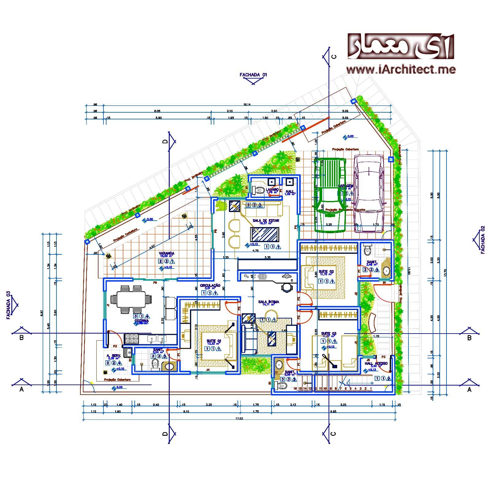 پکیج نقشه های طلایی مسکونی