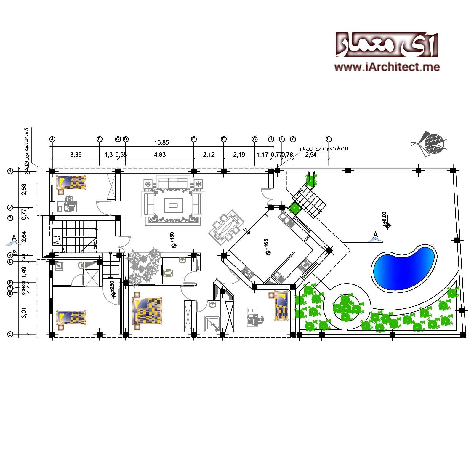 پکیج نقشه های ویلایی