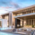 Executive plan of luxury and modern villa-4