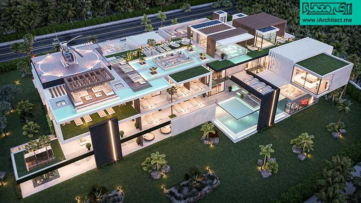 پلان اجرایی ویلای لاکچری 3 طبقه